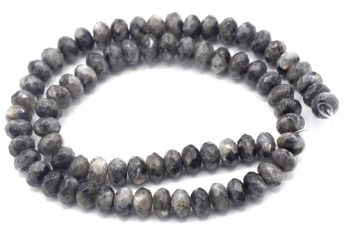 "15"" Strand 8x5mm Spectrolite Labradorite Faceted Rondelle Beads"