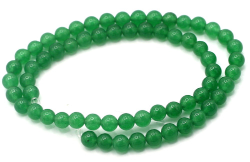 "15"" Strand 6mm Round Green Aventurine Beads"