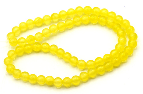 "15"" Strand 6mm Dyed ""Jade"" Beads, Sunshine"