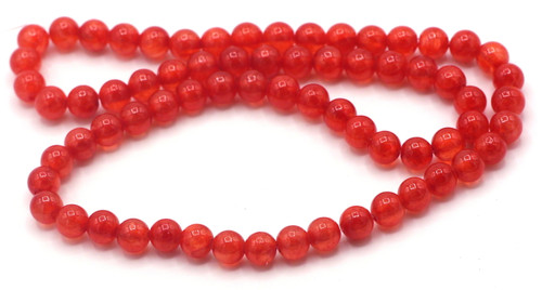 "15"" Strand 6mm Dyed ""Jade"" Beads, Strawberry"
