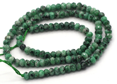 "15"" Strand 4x3mm Faceted Zoisite Rondelle Beads"