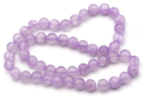 "15"" Strand 8mm Dyed ""Jade"" Beads, Lavender"