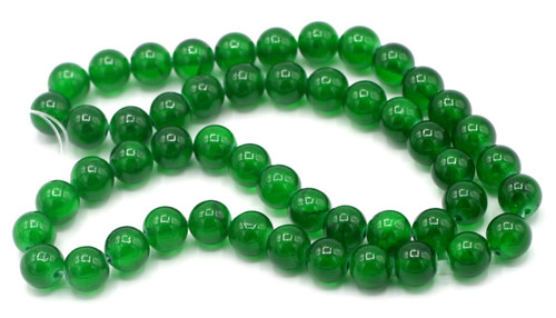 "15"" Strand 8mm Dyed ""Jade"" Beads, Emerald"