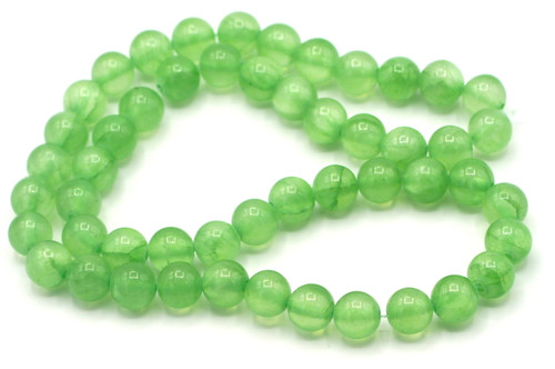 "15"" Strand 8mm Dyed ""Jade"" Beads, Jade Green"