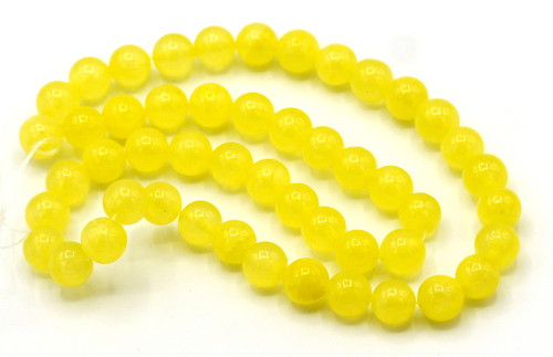"15"" Strand 8mm Dyed ""Jade"" Beads, Daffodil"