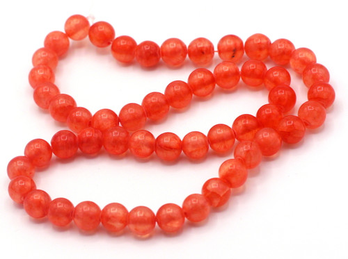 "15"" Strand 8mm Dyed ""Jade"" Beads, Strawberry"