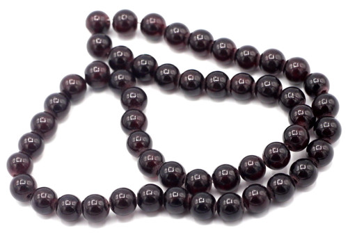 "15"" Strand 8mm Dyed ""Jade"" Beads, Garnet Red"