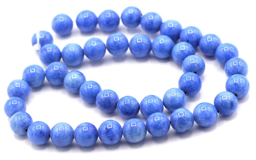 "15"" Strand 10mm Dyed Mountain ""Jade"" Beads, Denim Blue"