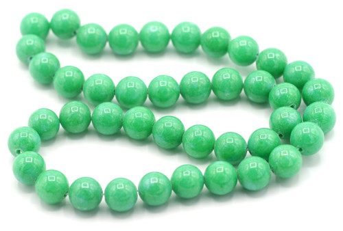 "15"" Strand 10mm Dyed Mountain ""Jade"" Beads, Sea Green"