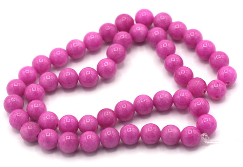 "15"" Strand 8mm Dyed Mountain ""Jade"" Beads, Magenta"