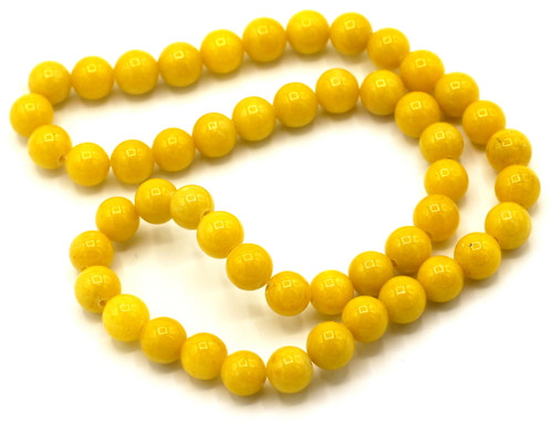 "15"" Strand 8mm Dyed Mountain ""Jade"" Beads, Dandelion"