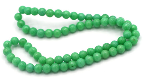 "15"" Strand 6mm Dyed Mountain ""Jade"" Beads, Sea Green"