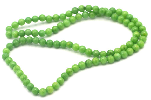 "15"" Strand 4mm Dyed Mountain ""Jade"" Beads, Lime"
