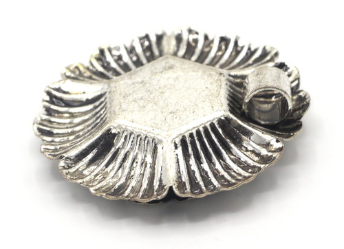 35mm Tribal-Style Flower Pendant, Antique Silvertone