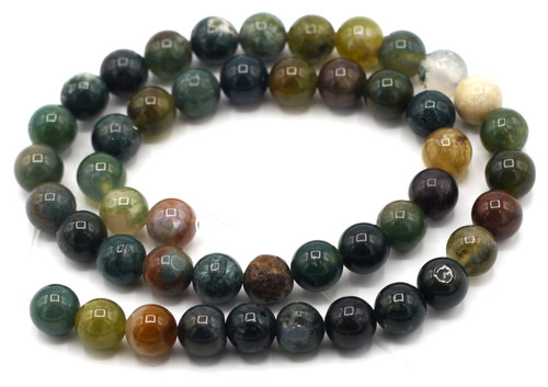 """15"""" Strand 8mm Indian Agate Round Beads"""