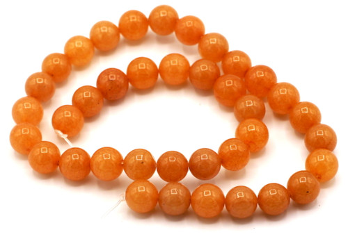 "15"" Strand 10mm Round Red Aventurine Beads"