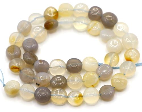 "15"" Strand 8-10mm Natural Chalcedony Nugget Beads"