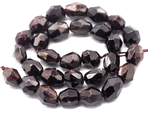 "15"" Strand 12-17mm Garnet Faceted Chunky Nugget Beads"
