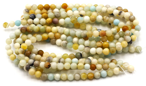 "15"" Strand 6mm Multicolor Amazonite Round Beads"