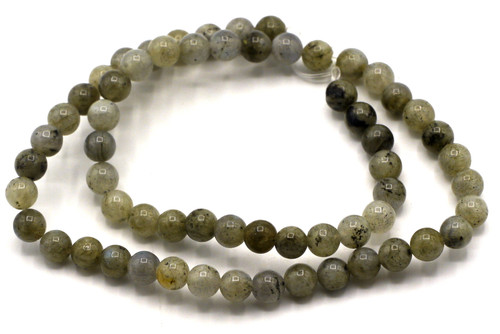 "15"" 6-7mm Labradorite Round Beads"