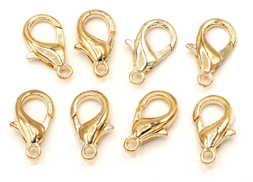 8pc 16mm Steel Alloy Lobster Claw Clasps, Rose Gold Finish