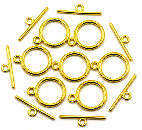 7 Sets 15x21mm Toggle Clasp, Golden