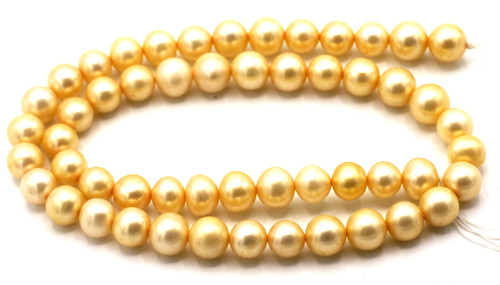 """SAVE 80%-- 15"""" Strand Approx 8-9mm Freshwater Pearl Semi-Round Beads, Pale Peach"""