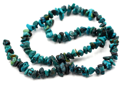 """15"""" Strand Approx 4-12mm Turquoise Chip Beads"""