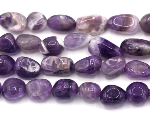 """15"""" Approx. 8-18mm Amethyst Tumbled Nugget Beads"""