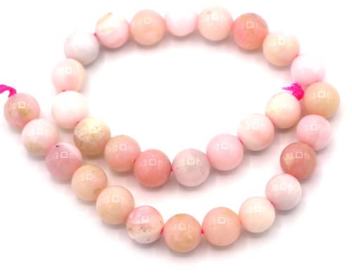 """7"""" Strand 6mm Peruvian Pink Opal Round Beads"""