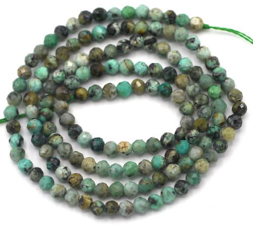"14"" Strand 3mm African ""Turquoise"" Jasper Beads"