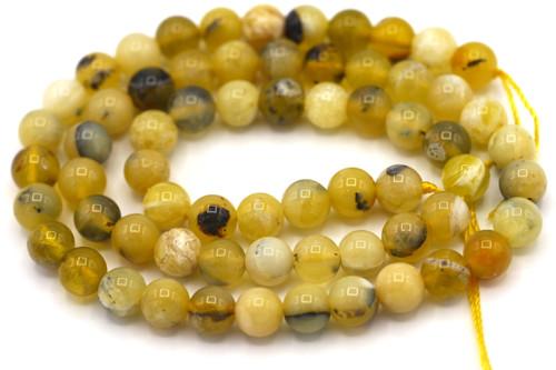 "15"" Strand 6mm Honey Opal Round Beads"