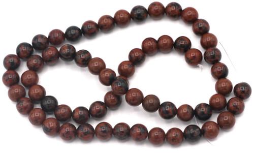 "Approx. 15"" Strand 6mm Round Mahogany Obsidian Beads"