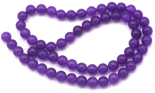 "Approx. 15"" Strand 6mm Round Purple Quartz (Dyed) Beads"