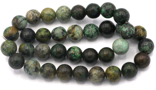 """Approx. 15"""" Strand 10mm Round African """"Turquoise"""" Jasper Beads"""
