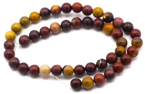 """SAVE 50%-- 15"""" Strand 8mm Mookaite Round Beads"""