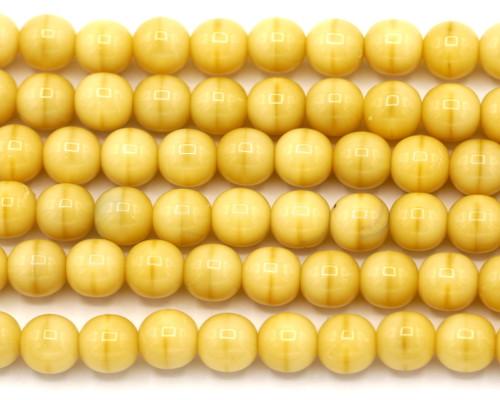 20pc Strand 6mm Czech Druk Round Beads, Almond Bisque