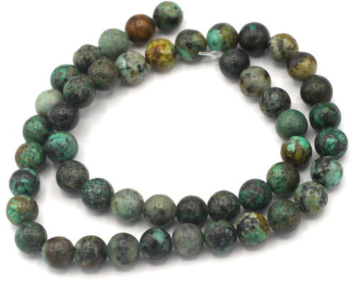 """Approx. 15"""" Strand 8mm African """"Turquoise"""" Jasper Beads"""