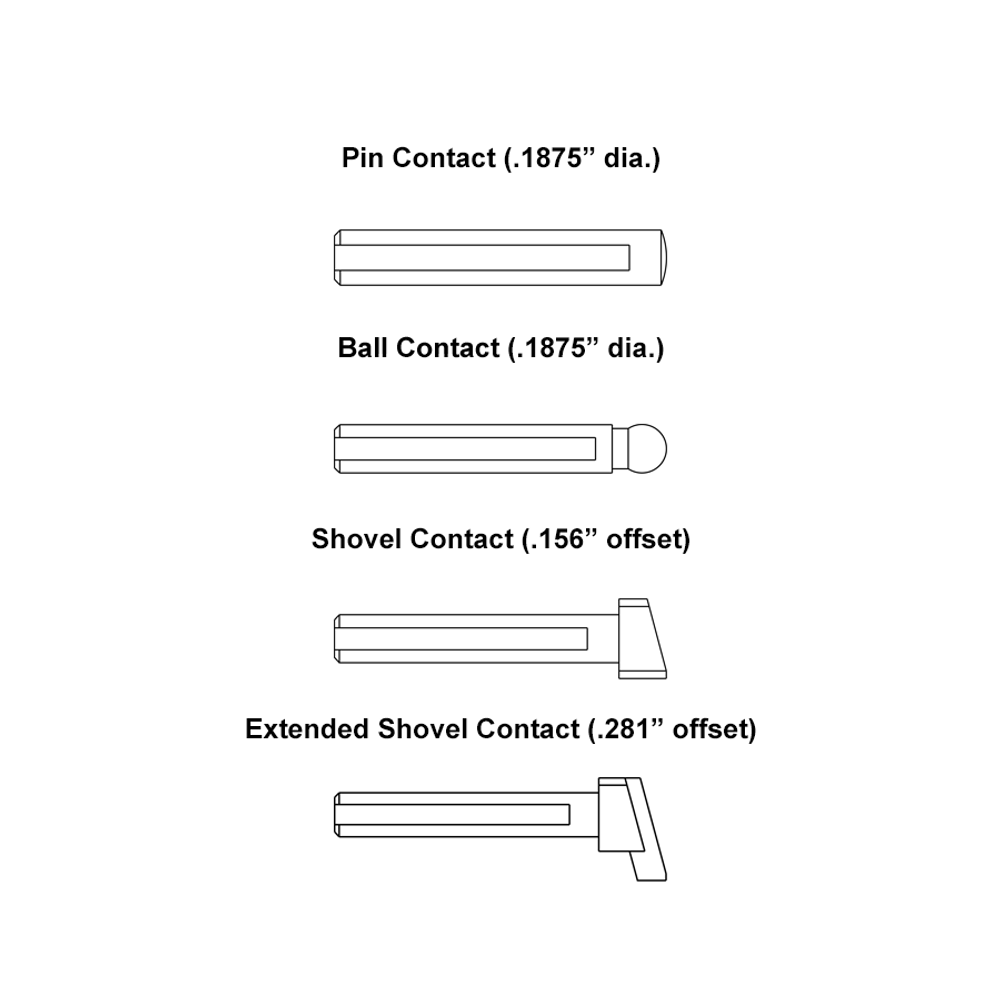 Large Diameter Gage Contacts