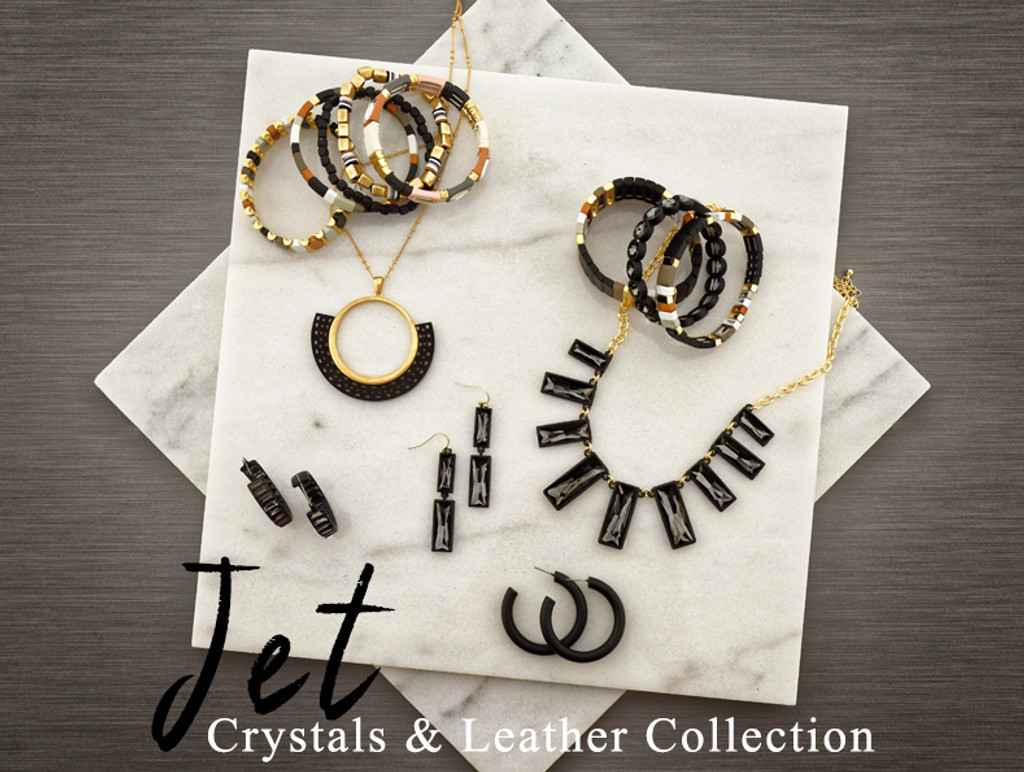 Jet Crystal & Leather Collection