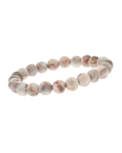8MM PEACH STONE STRETCH BRACELET