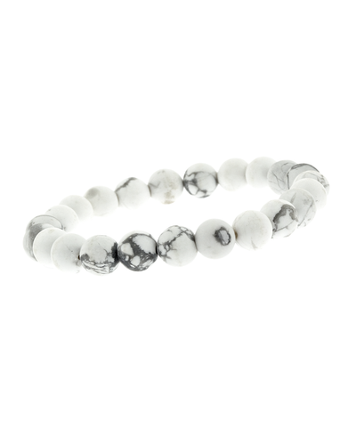 8MM WHITE STONE STRETCH BRACELET