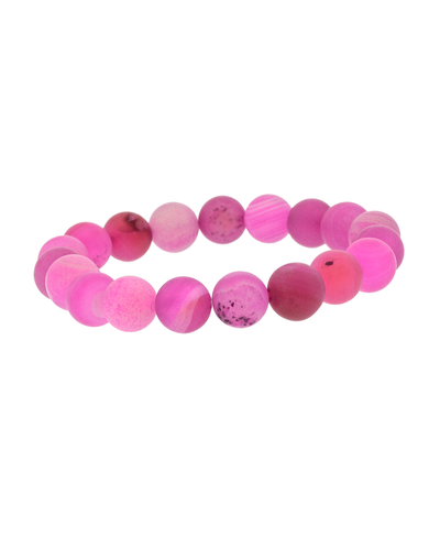 10MM FUCHSIA STONE STRETCH BRACELET