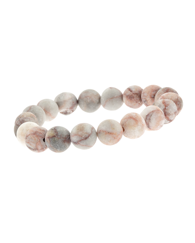 10MM PEACH STONE STRETCH BRACELET