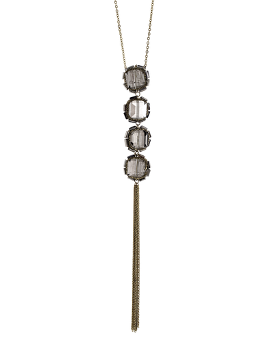 BLACK DIAMOND GLASS CUBES- CHAIN NECKLACE