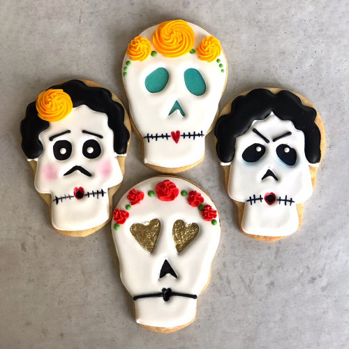 Day of the Dead Skulls Decorated Cookie Gift Box