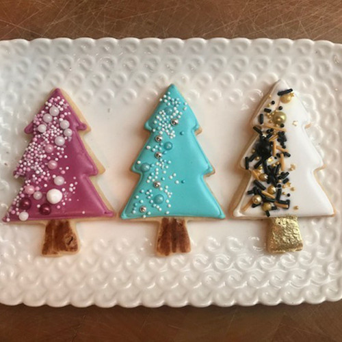 Disco Tree Decorated Cookie Gift Box