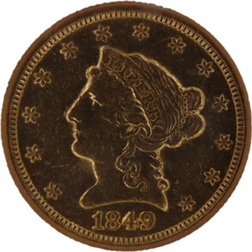 1849-C Liberty Quarter Eagle AU58 NGC - Obverse
