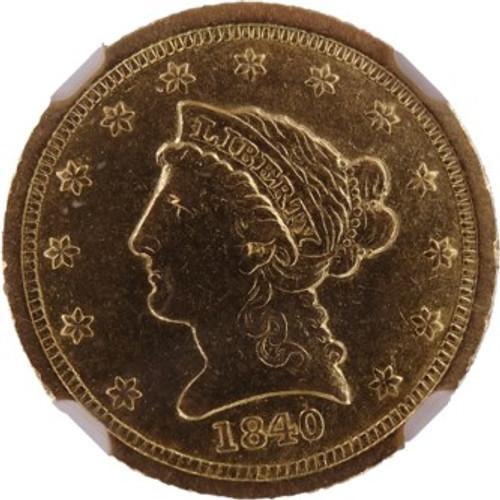 1840-C Liberty Quarter Eagle AU55 NGC - Obverse