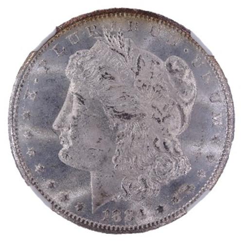 1884-CC Morgan Dollar MS65+ NGC - obverse
